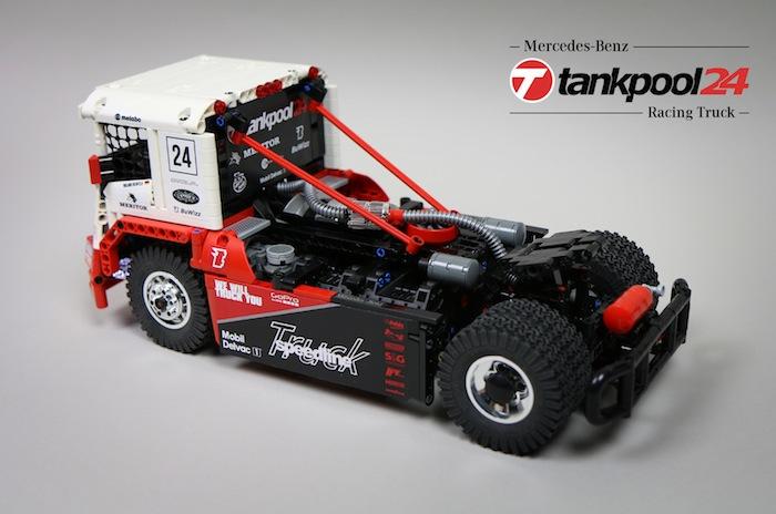 lego technic rc mercedes benz tankpool racing truck. Black Bedroom Furniture Sets. Home Design Ideas