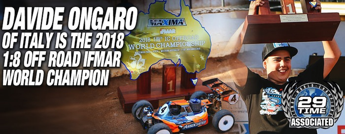 Il primo titolo mondiale buggy 1/8 del Team Associated