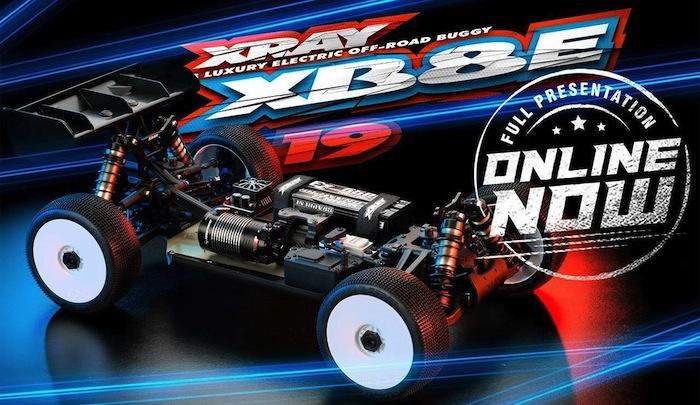 XRAY: XB8E 19 - Nuova buggy elettrica da competizione