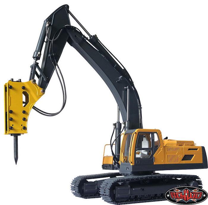 RC4WD: Come installare il martello demolitore sull'escavatore idraulico Earth Digger 360L